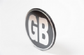 Silver on black metal GB badge (self adhesive)