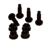 Black Plastic Nuts and Bolts x 4