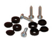 Self Tapping Screws with Black Caps x 4